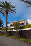 Hotel on the beach ( Tenerife). The image of the luxury house on the beach Stock Image