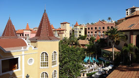 Hotel. Beautiful architecture on Canaries Royalty Free Stock Photo