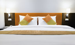 Hotel bed Royalty Free Stock Photography