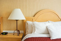 Hotel bed Stock Image