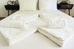 Hotel bed Stock Photos