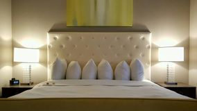 Hotel bed, St. Louis Stock Image
