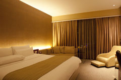 Hotel bedroom. Credit line (HTML Code Royalty Free Stock Images