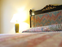 Hotel Bedroom. A hotel bedroom royalty free stock photos