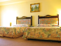 Hotel Bedroom. A hotel bedroom Royalty Free Stock Images