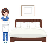 Hotel Bedroom Cleaning Service Royalty Free Stock Images