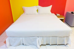 A hotel bedroom Royalty Free Stock Photos