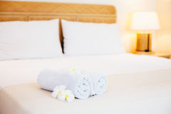 Hotel bedroom details Royalty Free Stock Images