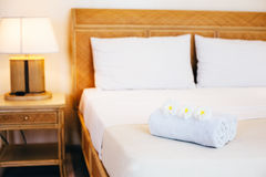 Hotel bedroom details Stock Photography