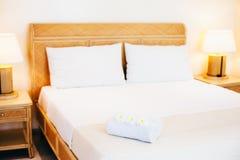 Hotel bedroom details Stock Photos