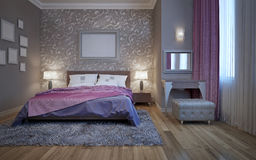 Hotel bedroom with dressing table Royalty Free Stock Photo