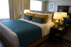 Hotel bedroom. Luxury hotel bedroom, Manila, Philippines Stock Photo