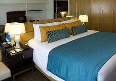 Hotel bedroom. Luxury hotel bedroom, Manila, Philippines Stock Photography