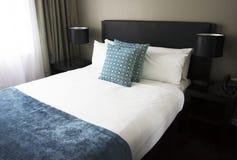 Hotel bedroom. Luxury hotel bedroom, Manila, Philippines royalty free stock image