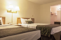Hotel Bedroom with Two Beds. Stock Image