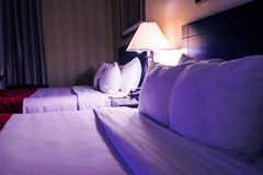 Hotel Beds Royalty Free Stock Image