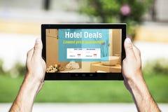 Hotel behandelt Website Lizenzfreies Stockfoto