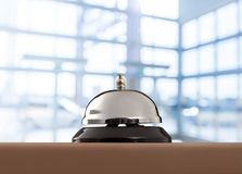 Hotel. Bell hospitality clock ring desk assist Royalty Free Stock Images