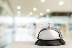 Hotel bell. Hospitality travel desk business Stock Photos