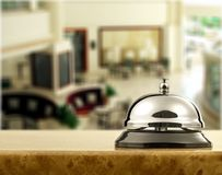 Hotel. Bell hospitality travel desk business counter Royalty Free Stock Photo