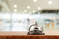 Hotel. Bell hospitality travel desk business counter Royalty Free Stock Photography