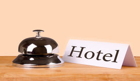 Hotel bell hotel text Stock Photo