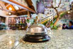 Hotel bell ring Stock Photo