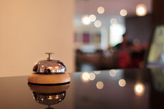 Hotel bell. A service bell in a hotel Royalty Free Stock Photography