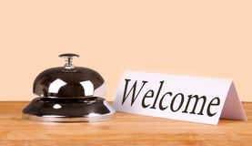 Hotel bell welcome Stock Photography