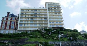 Hotel in Biarriz. Nice houses in Biarritz, France, Aquitania, near the ocean Stock Photos