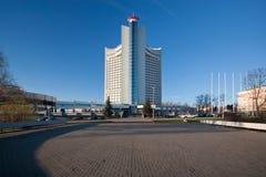 Hotel Bielorussia, Minsk. Marzo giorno indicato 2014 Immagini Stock Libere da Diritti