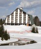 Hotel bij de Winter stock foto's