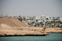 Hotel bij kust van het rode overzees Stock Afbeelding