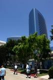 Hotel bij San Diego haven Stock Afbeeldingen