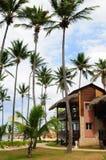 Hotel bij tropische toevlucht Stock Foto