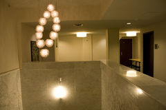 Hotel binnenlandse verlichting stock fotografie