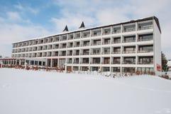 Hotel blisko jeziora w miasteczku Maribo w Dani Fotografia Stock