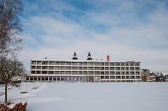 Hotel blisko jeziora w miasteczku Maribo w Dani Fotografia Royalty Free