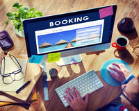 Hotel Booking Reservation Travel Reception Concept Royalty Free Stock Photo