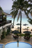Hotel on Boracay. During a rain royalty free stock images