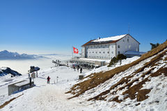 Bovenkant van Alp Rigi in Zwitserland, Europa Stock Foto's