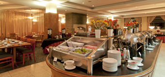 Hotel - Breakfast Buffet Stock Photography
