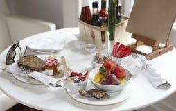 Hotel breakfast table Stock Image