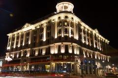 Hotel Bristol en Varsovia en la noche Fotografía de archivo libre de regalías