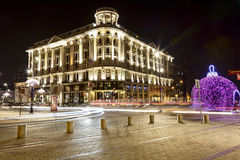 Hotel Bristol at night, Warsaw Stock Photos