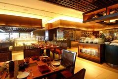 Hotel Buffet Dining Restaurant. Interior design of a hotel buffet dining restaurant stock photos