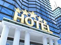 Hotel build and five star Stock Photography