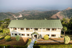 Hotel building with beautiful views in Amedzofe, Volta Region, G Royalty Free Stock Images