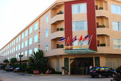 The hotel building in Cambodia Stock Photography