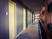 Hotel building corridor Royalty Free Stock Photos